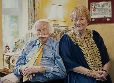 Portrait of Lord and Lady of Burghurst by Simon Taylor